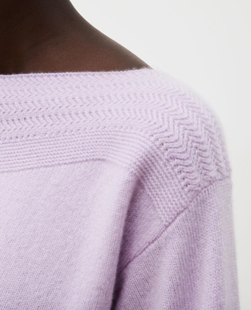 Jersey de cachemir con cuello de barco Pastel lilac Millau