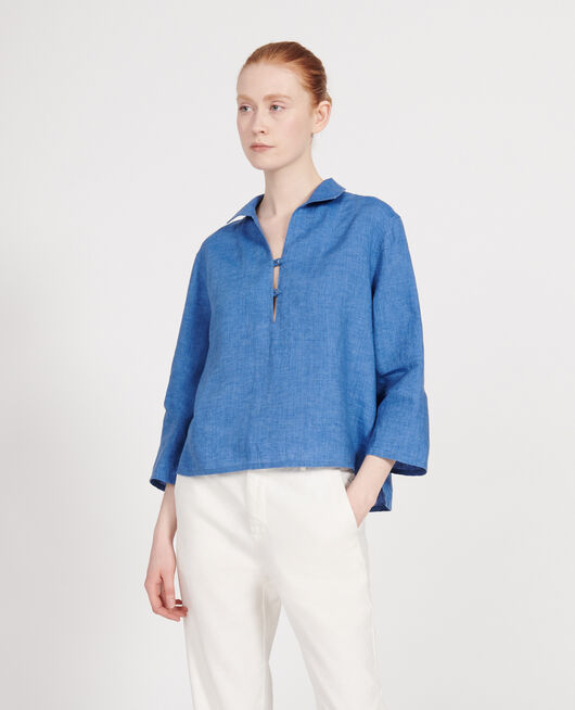 Blusa de lino INDIGO