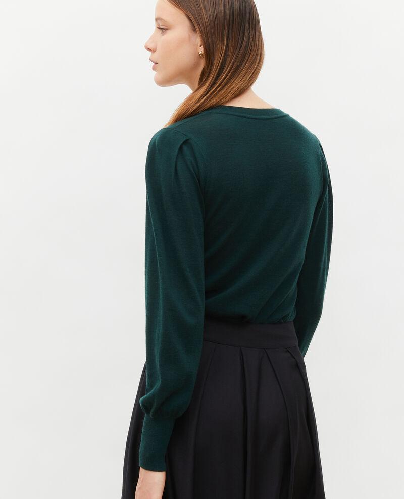 Jersey de lana merino con cuello redondo Scarab Molineta