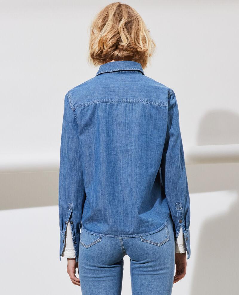 Camisa vaquera con bolsillos Denim medium wash Nadigna