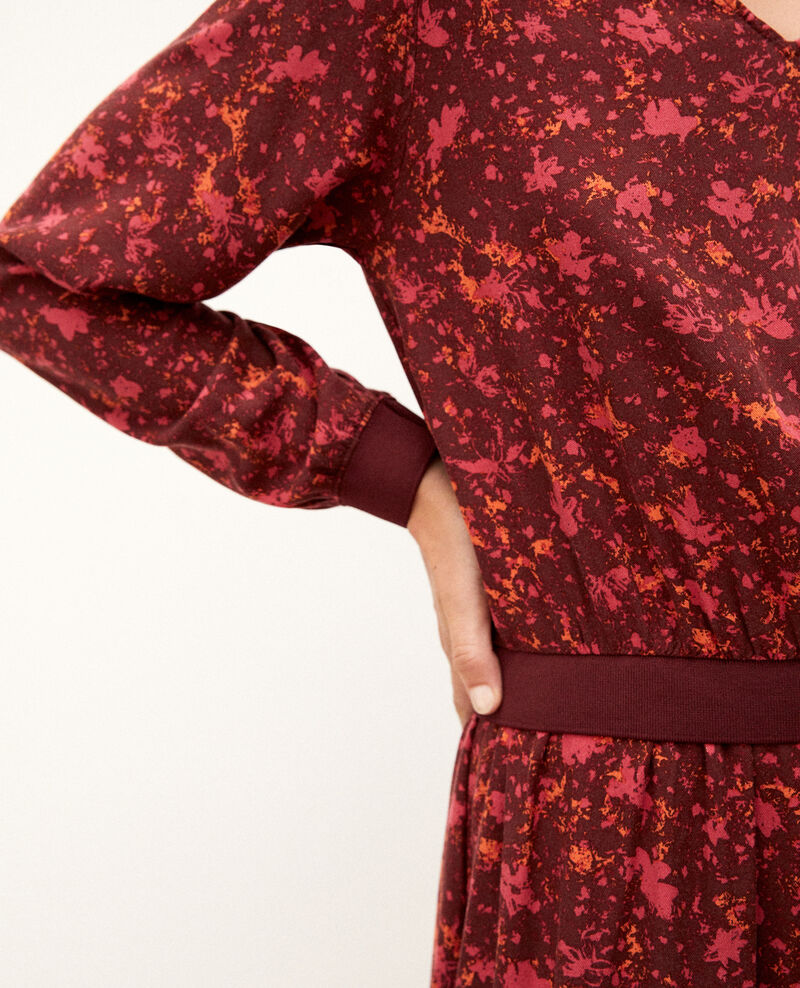 Vestido con elástico en la cintura Rojo Gapricorne