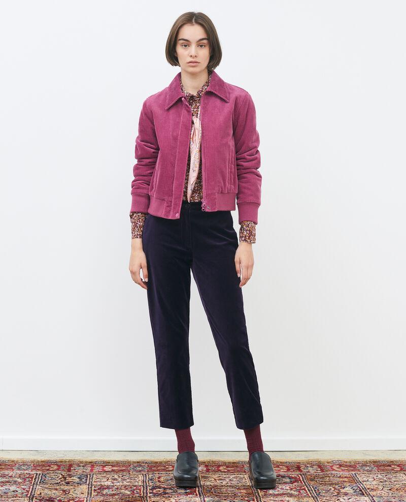 Pantalón MARGUERITE, 7/8 de terciopelo de algodón Purple Poko