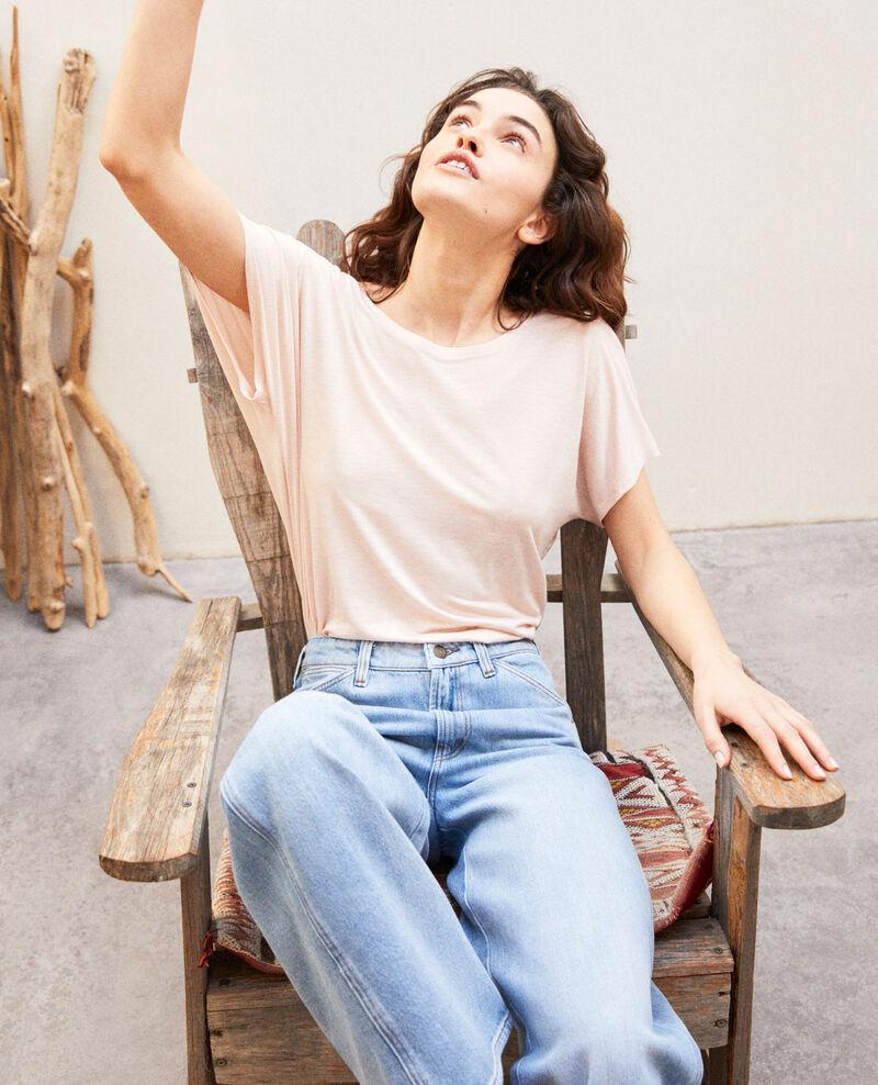 T-shirt col V dans le dos  Light pink Imeric