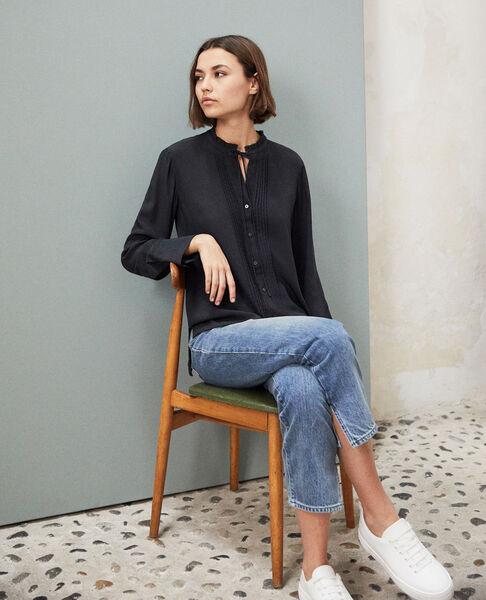 Comptoir des Cotonniers - Blusa de seda Noir - 1