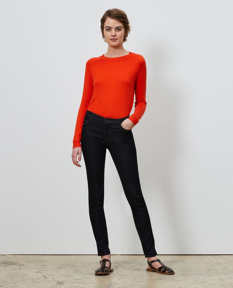 Jersey de seda y algodón Spicy orange Nita