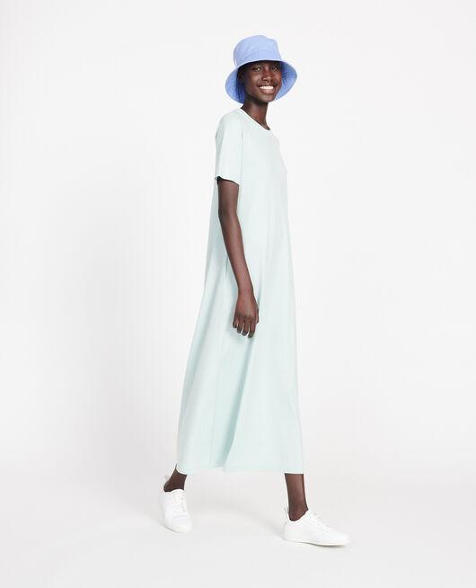 Vestido largo de algodón mercerizado BLUE HAZE