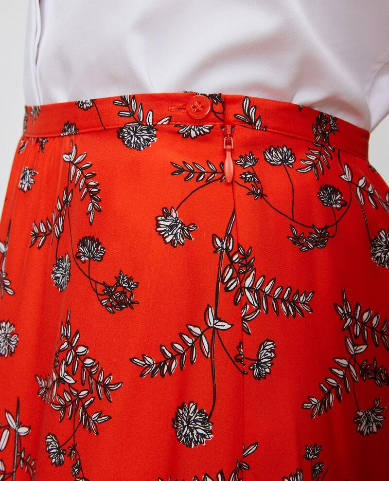 Falda de seda de talle alto Coronille spicy Noimise