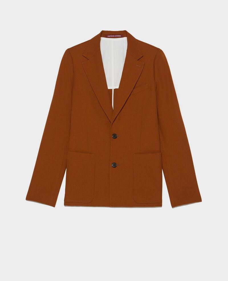 Blazer de lana lisa Monks robe Luscade
