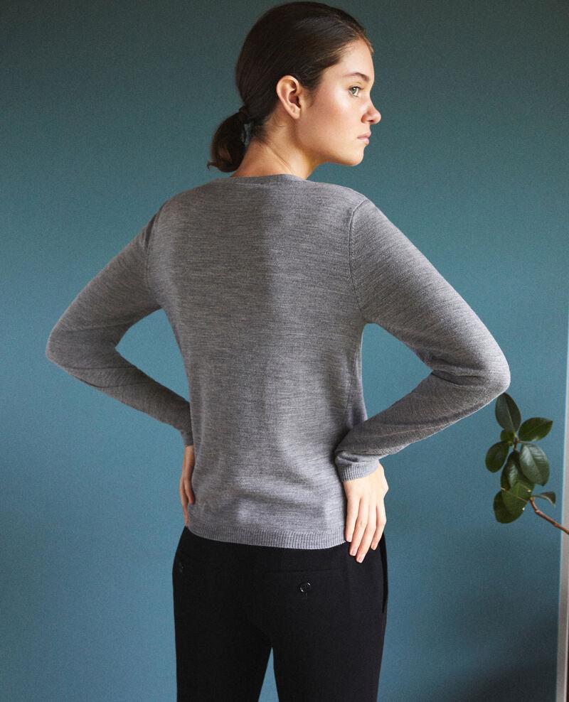 Cárdigan-blusa efecto 2 en 1 Gris Gapristi
