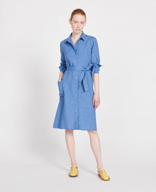Vestido de lino INDIGO