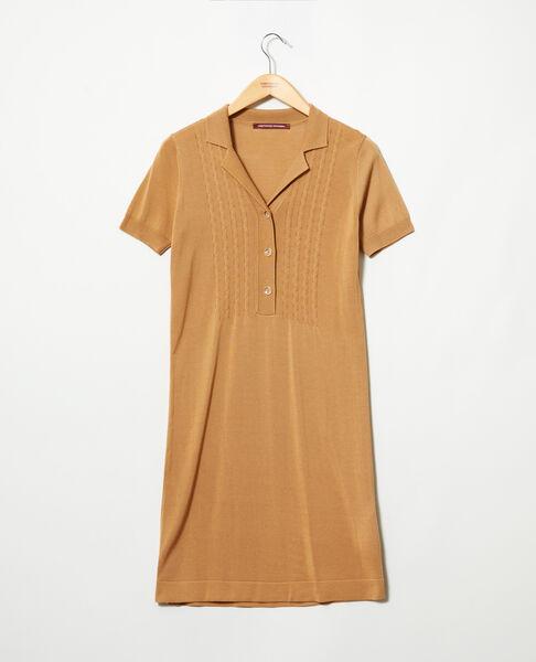 Comptoir des Cotonniers - Vestido de punto Camel beige - 2