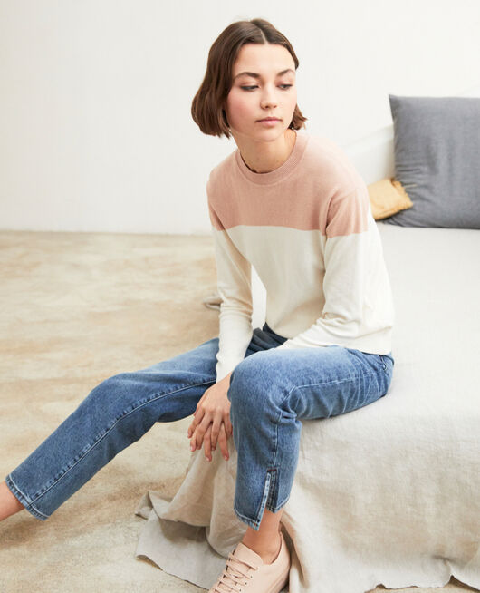 Jeans straight con abertura VINTAGE WASH