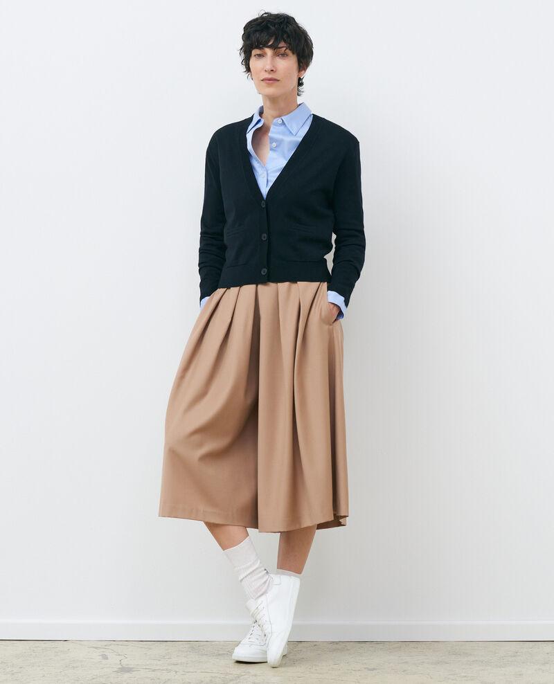 Cárdigan corto de lana Black beauty Palabre