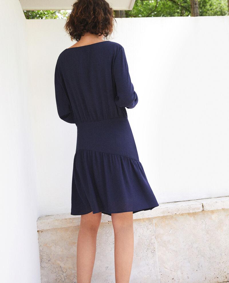 Vestido con volante  Azul Fortement