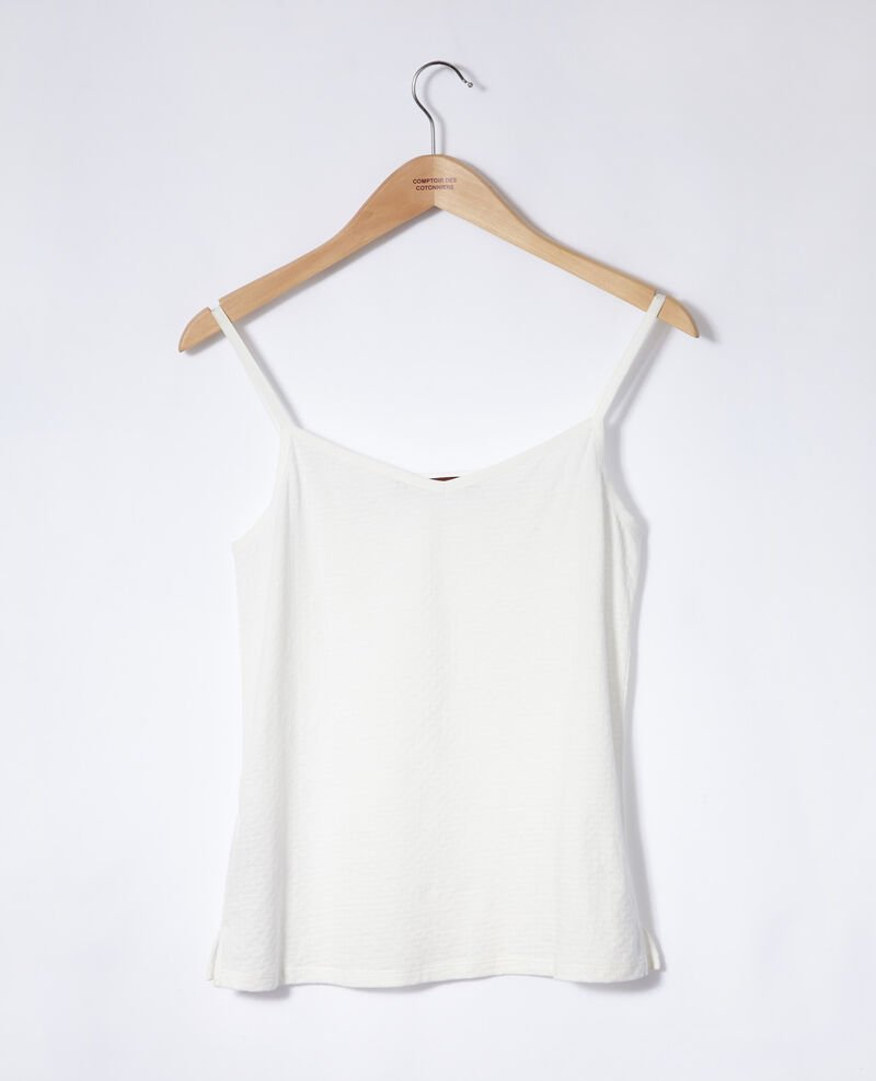 Camiseta con tirantes finos Blanco Gagnant