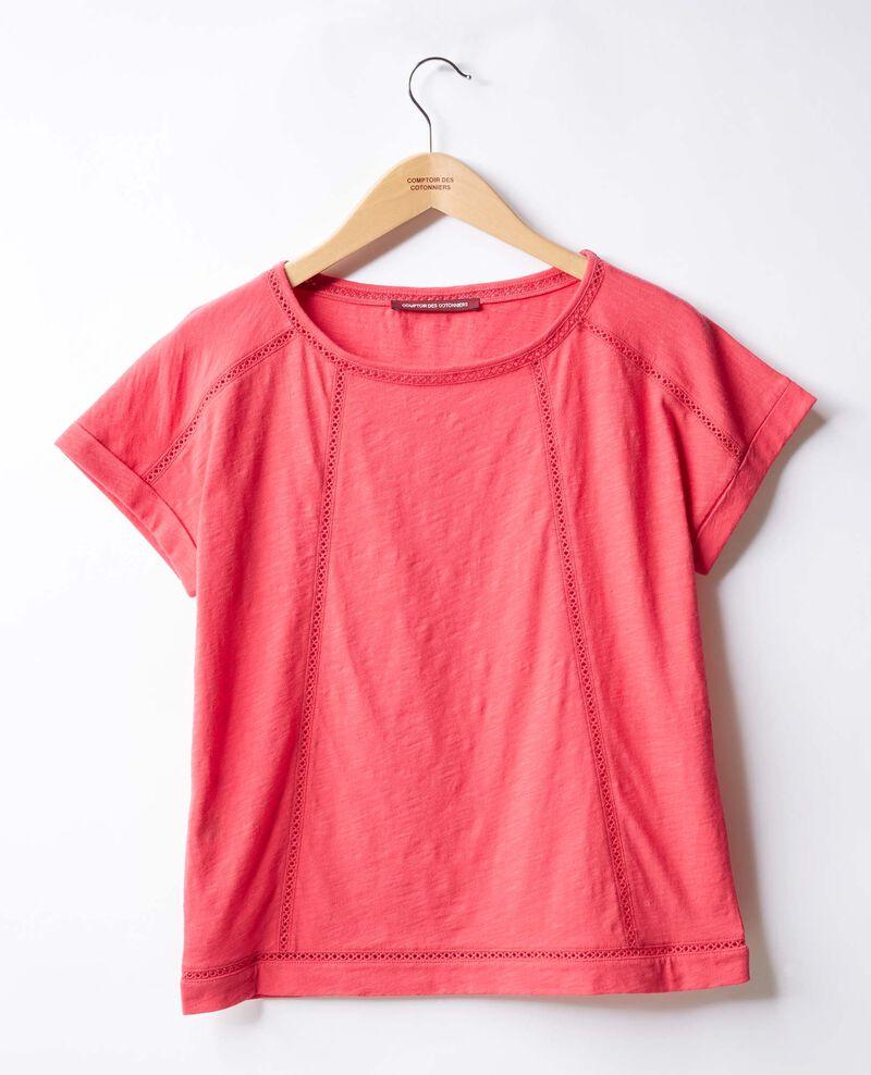 Camiseta con trencillas Ultra pink Fenouil