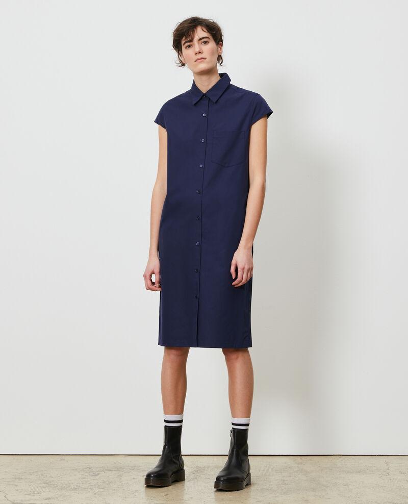 Vestido camisero de algodón Maritime blue Lelumba