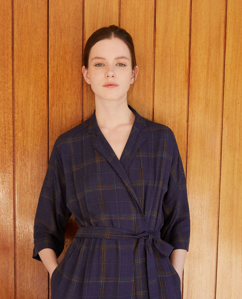Vestido cruzado Azul Guicharde
