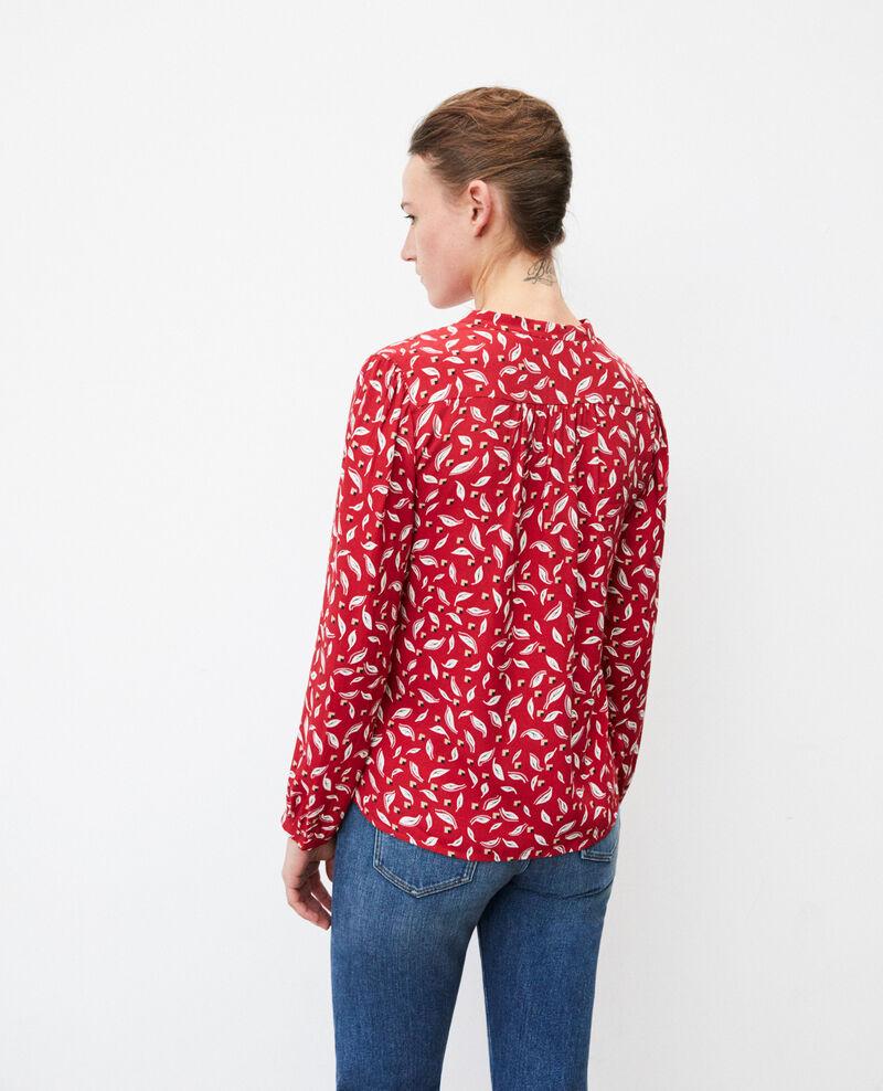 Blusa con cuello tunecino Earth red Gaela