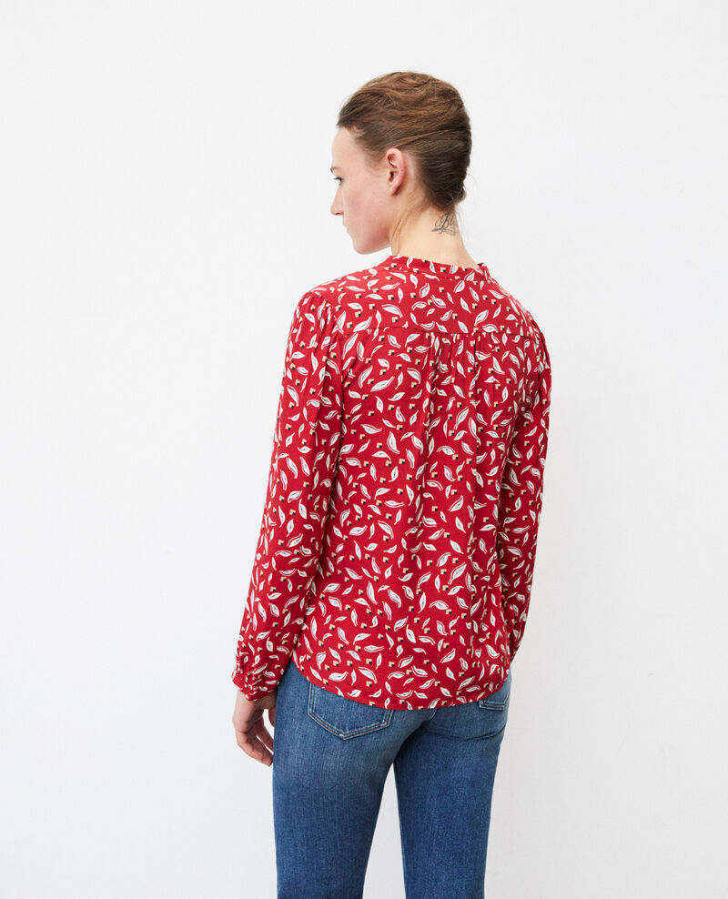 Blusa con cuello tunecino Earth red Gaela