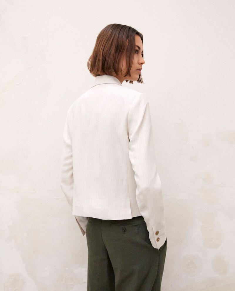 Chaqueta sastre corta Dust beige/off white Ireille