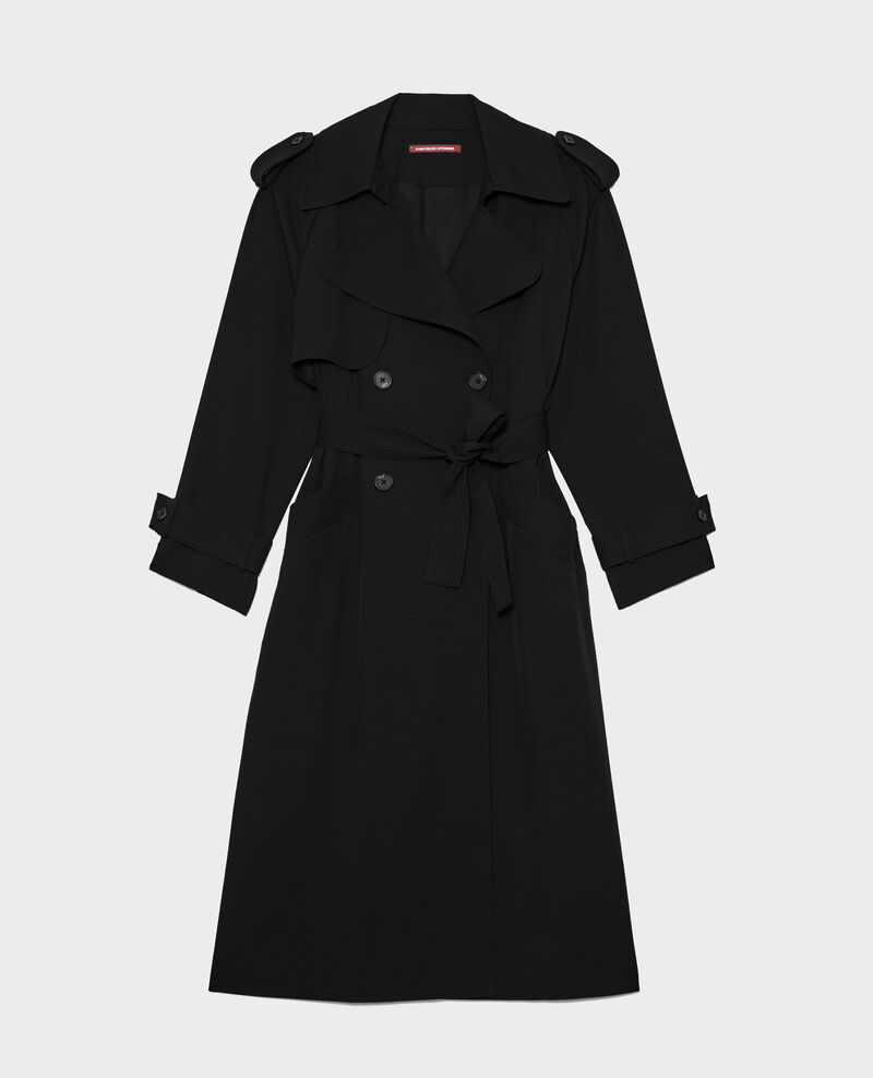 Trench de lana Black beauty Laiko