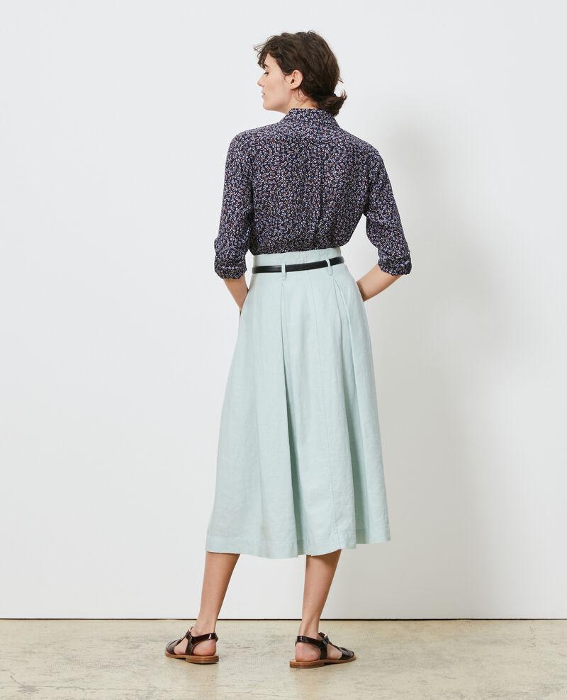 Falda midi de lino Blue haze Lorlange