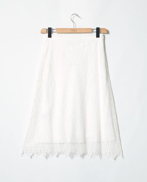 Comptoir des Cotonniers - Falda de encaje Off white - 2