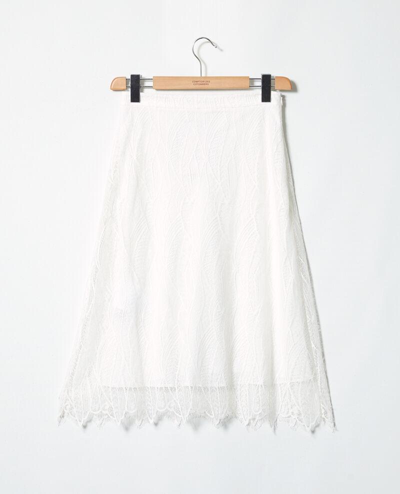 Falda de encaje Off white Inaskar