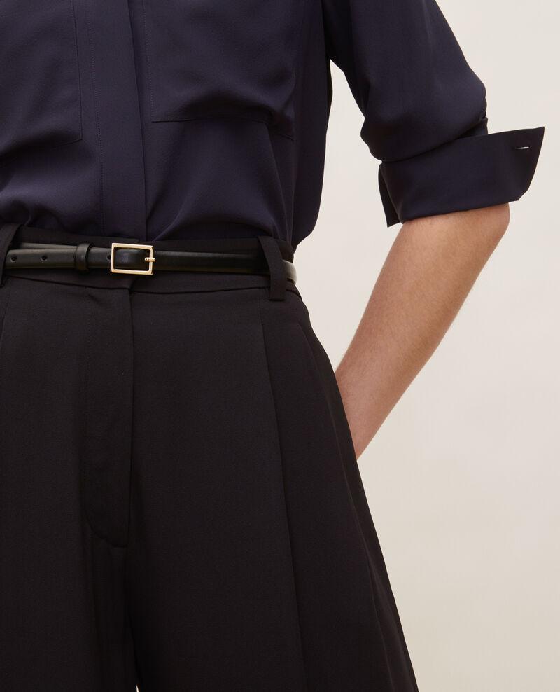 Pantalón ancho talle alto Black beauty Mogance