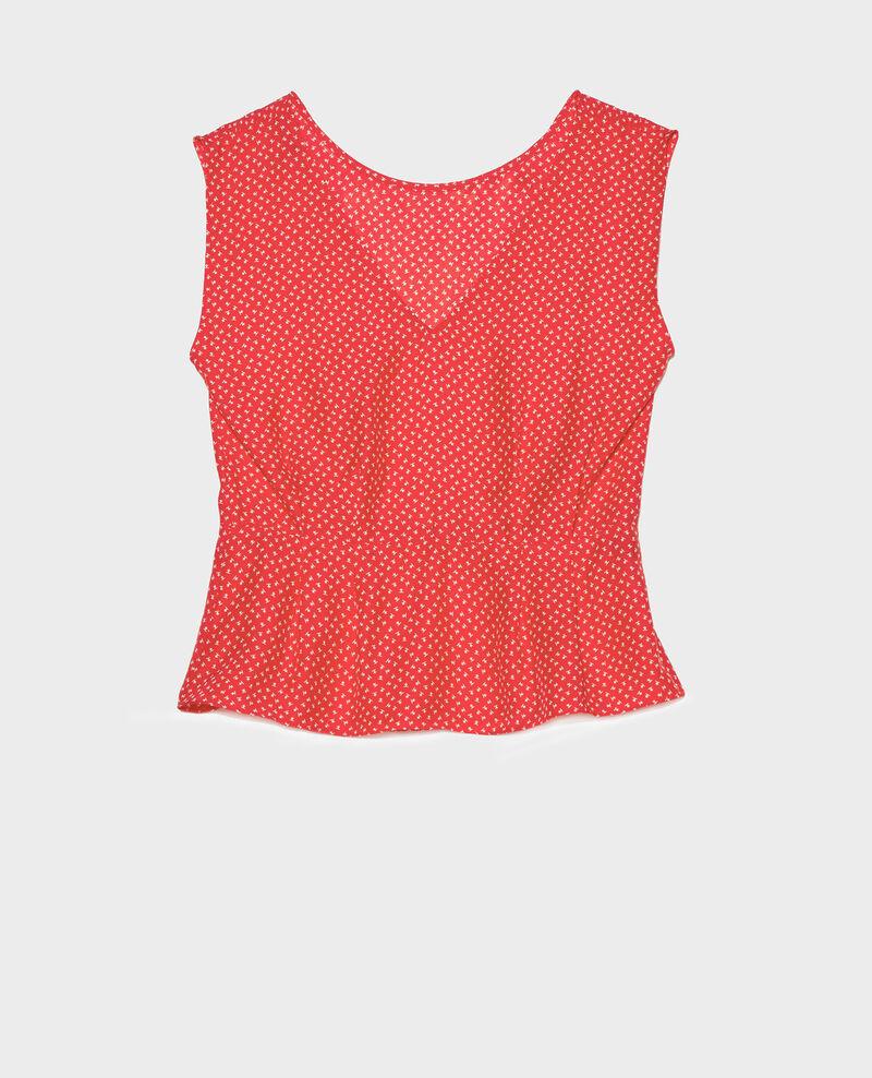 Blusa de seda Memphis fiery red Lafox