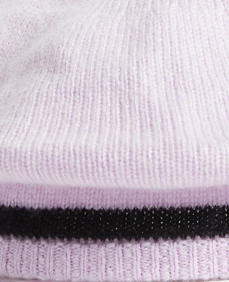 Boina de cachemir Stripe lilac blackbeauty Mions