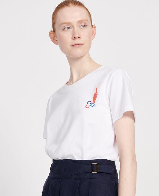 Camiseta de algodón FIERY RED