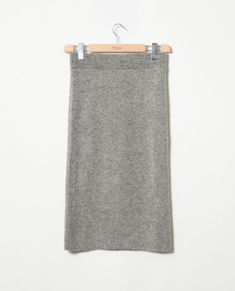 Falda de longitud media de punto Middle grey Joupila