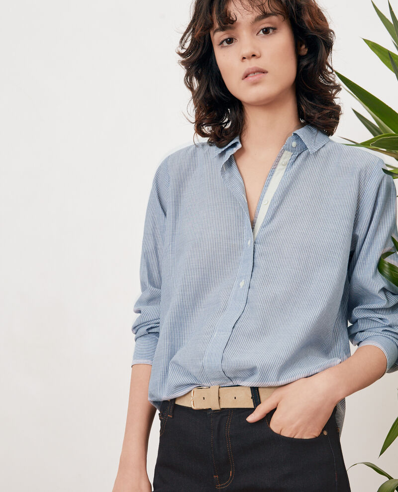 Camisa oversize rayada Stone blue stripes Freelance