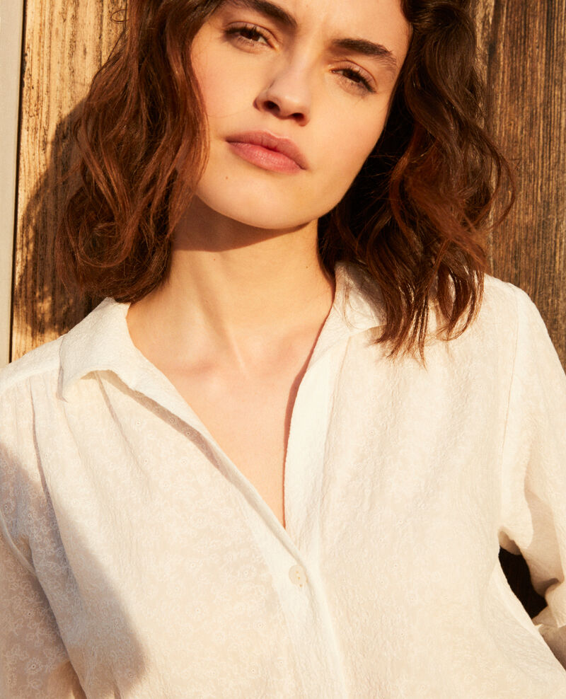 Camisa de algodón bordado Off white Imagination