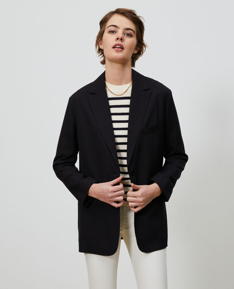 Blazer masculino de lana Black beauty Nably