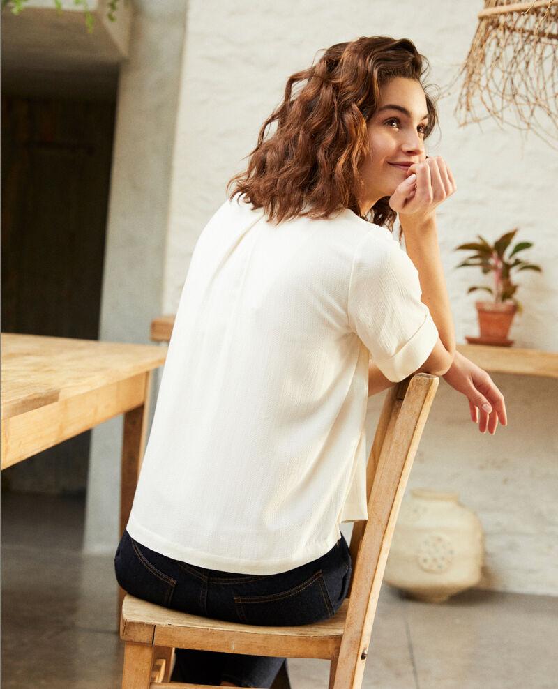 Blusa con tira desmontable Off white Ipex