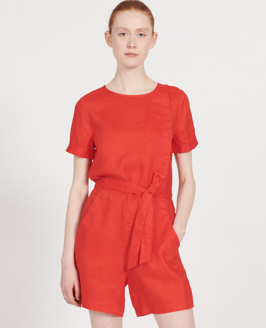 Mono short de lino FIERY RED