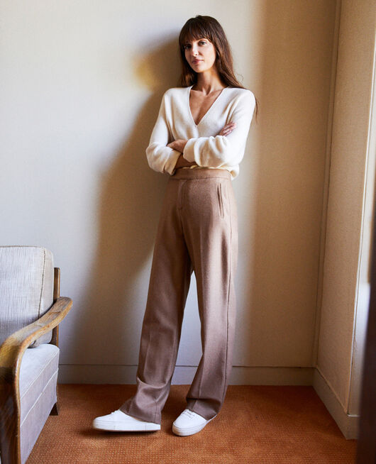 Pantalón sastre con lana CAMEL