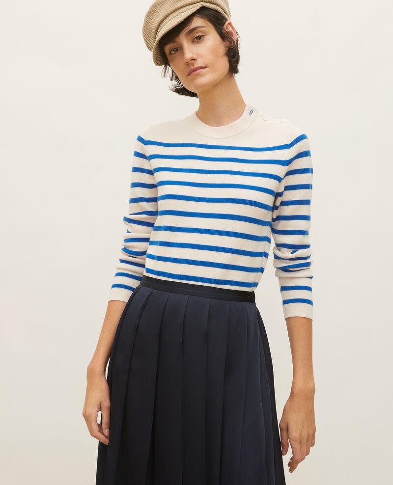 Jersey de lana Stripes princess blue gardenia Liselle