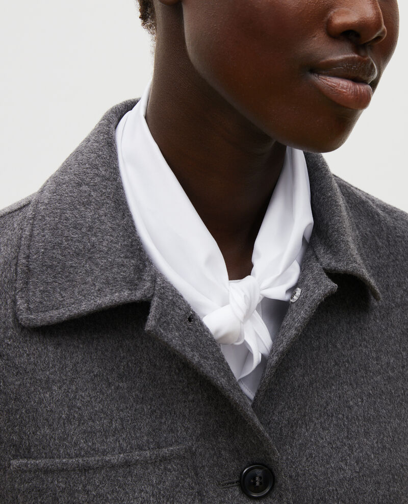Chaqueta de lana con doble cara Medium grey melange Mauguio