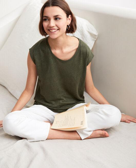 Camiseta de lino bordada CHENG OLIVE