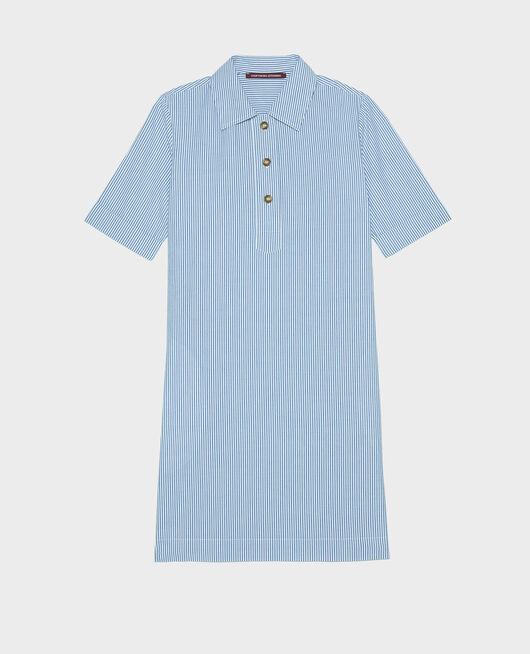 Robe en coton SEERSUCKER STRIPES