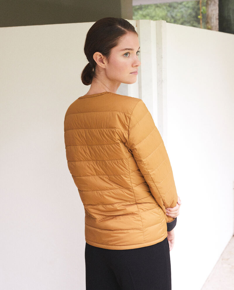 Chaqueta Mademoiselle Plume reversible Ad golden brown Gallopou