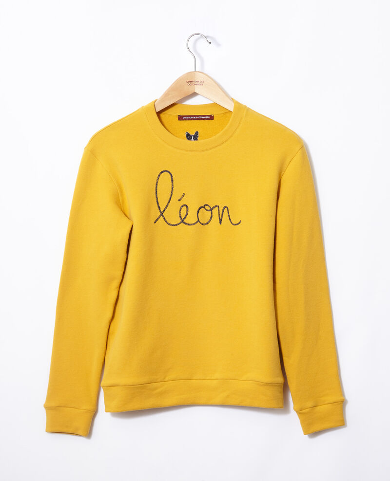 Sudadera con bordado Léon Golden spice/peacoat Gleon