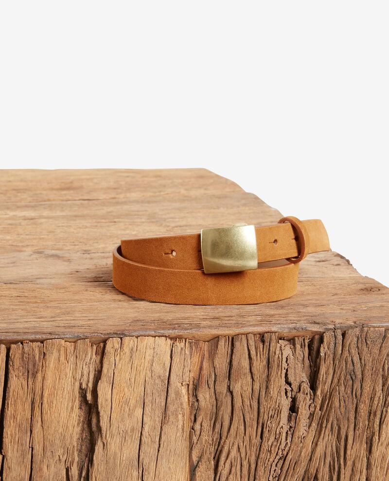 Cinturón de corteza de cuero Cognac Faille