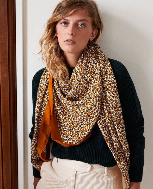 Fular estampado de leopardo THAI CURRY