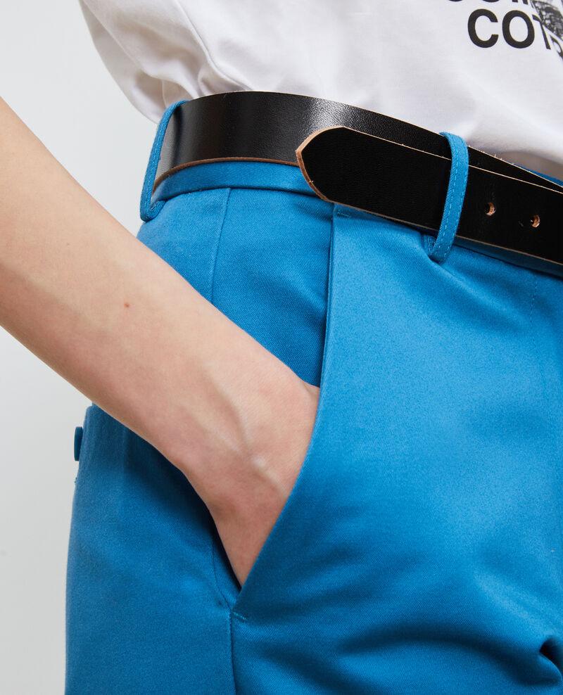 Pantalones chinos 7/8 tapered de algodón Faience Nezel