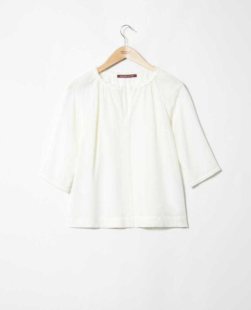 Blusa con seda Off white Jalandre